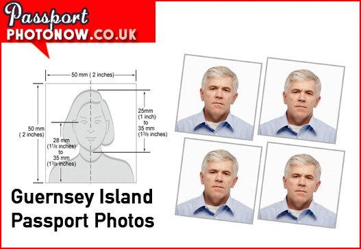 Guernsey Island Passport Photos